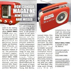 High Canada Magazine picks up Really Small Town on 420